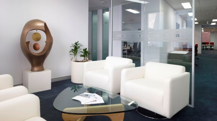 Waiting room in reception