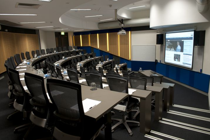 A larger sized conference room