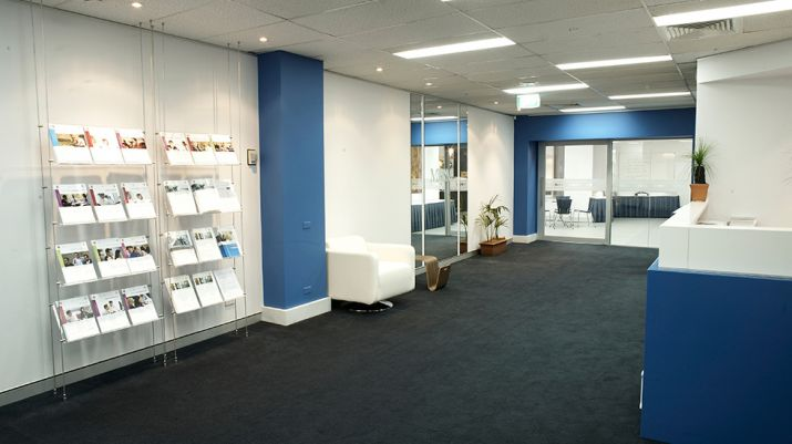 Waiting areas in reception