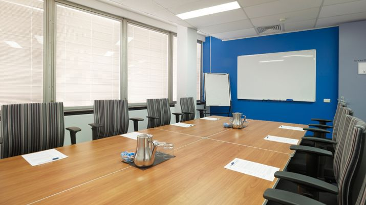 A small conference room