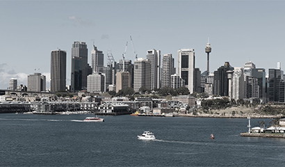 The Sydney CBD skyline